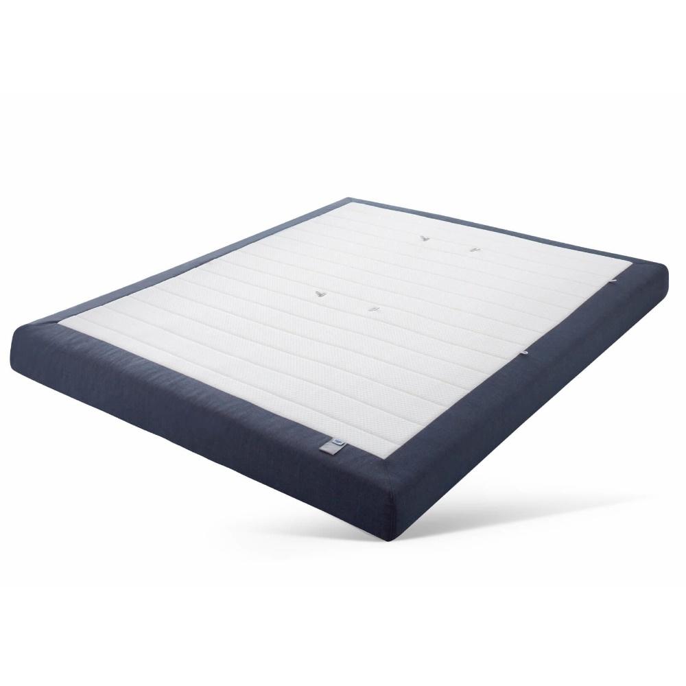 Gestoffeerde comfort matras van Auping met een donkerblauwe buitenkant