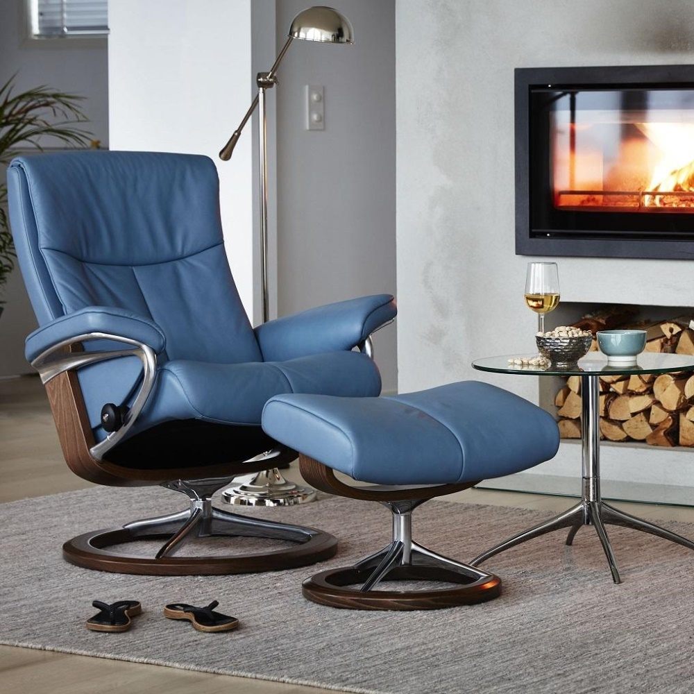 Peace relaxfauteuil blauw