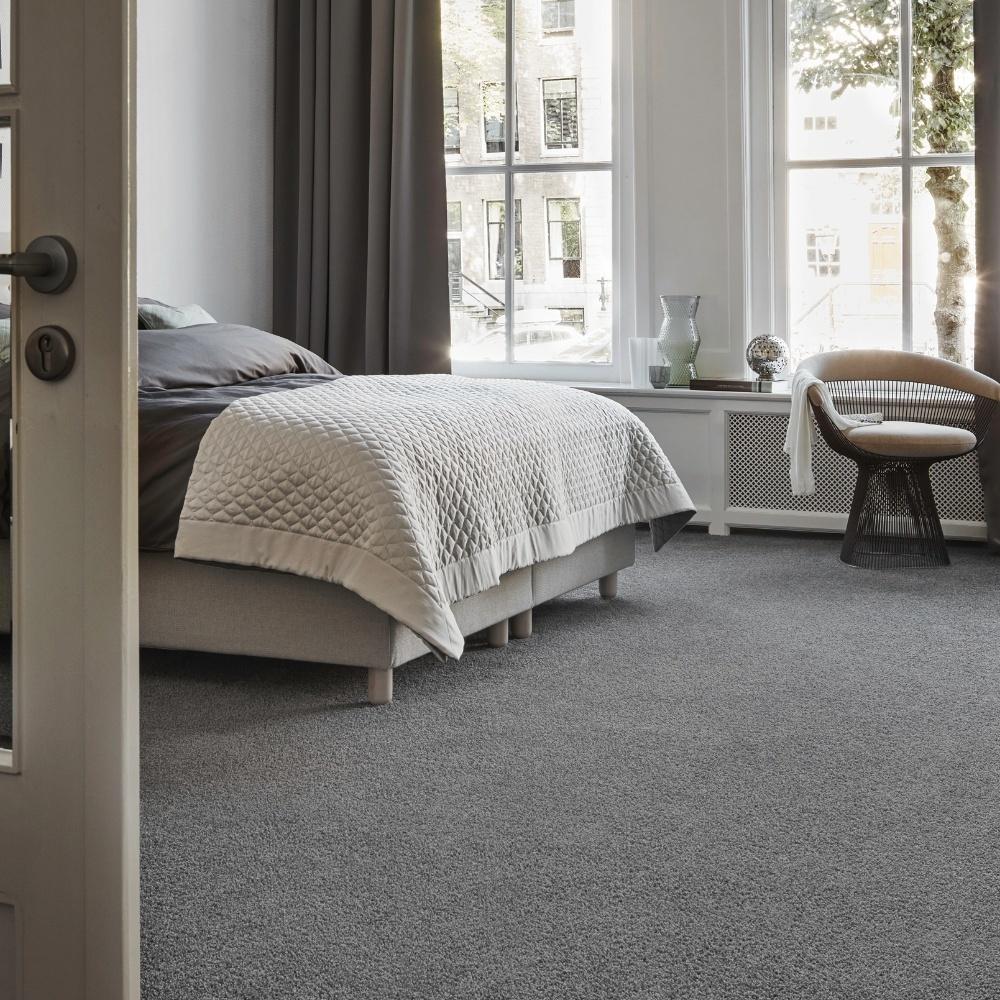 Comfortabel tapijt van Bonaparte in een grijze kleur